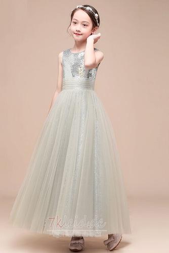 Tüll Juwel Ärmellos Elegant Reißverschluss Sommer Blumenmädchenkleid - Seite 7