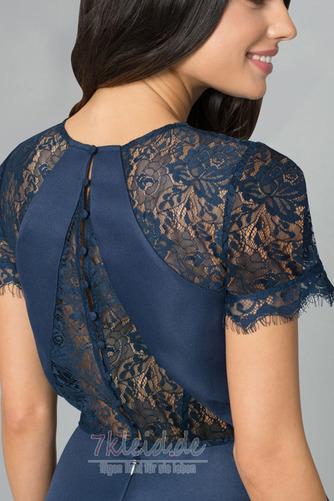 Glamouröse Hoch Niedrig Spitzen-Overlay Asymmetrisch Abendkleid - Seite 3