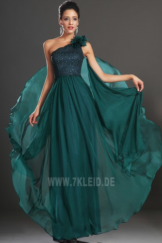 Ein Schulter Schmuck dekorativ Mieder Natürliche Taille Abendkleid - Seite 2