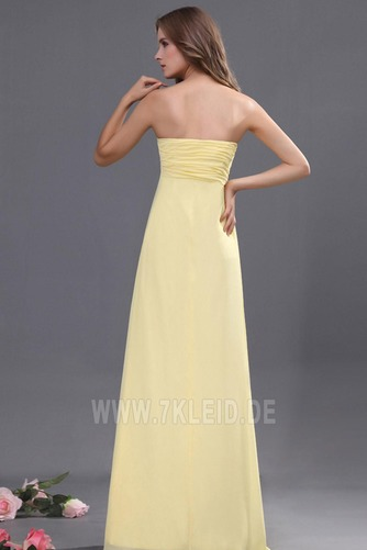 Elegant Chiffon Mitte Rücken Apfelförmig Trägerlos Abendkleid - Seite 4