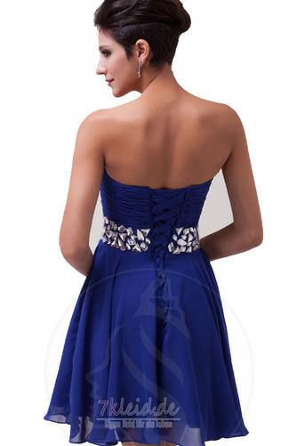 Chiffon A-Linie Perlengürtel Elegant Sommer Trägerlos Abendkleid - Seite 2