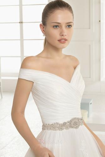 Formell Outdoor Natürliche Taille Frühling Reißverschluss Brautkleid - Seite 3