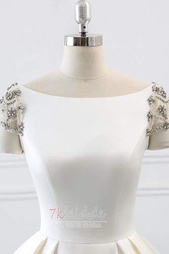 Rücken Schnürung Lange Birneförmig Natürliche Taille Drapierung Brautkleid - Seite 5