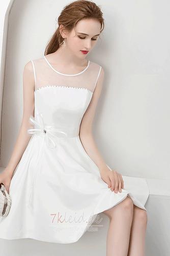 Charmante Juwel Reißverschluss Natürliche Taille Sommer Abendkleid - Seite 4