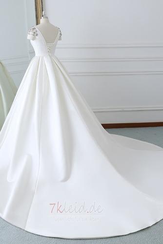 Rücken Schnürung Lange Birneförmig Natürliche Taille Drapierung Brautkleid - Seite 2