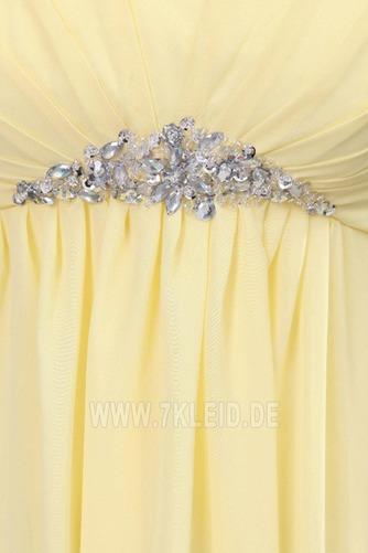 Elegant Chiffon Mitte Rücken Apfelförmig Trägerlos Abendkleid - Seite 6